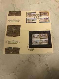 first day covers - areas of historical interest