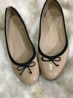 Charles and keith nude flats