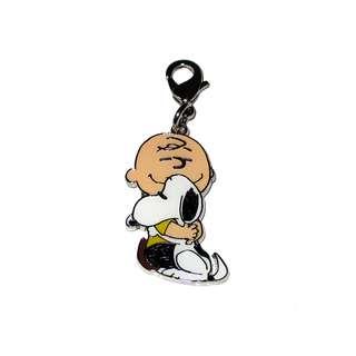 日本正版 Snoopy 史努比 拉鏈 掛飾 吊飾 (Hug)