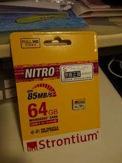 *New* Strontium 64GB MicroSD USH-I Class10 upto 85MB/s