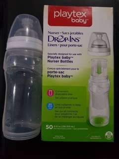 Playtex disposable baby nurser feeding bottle and liners