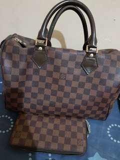 LV bundle with wallet authentic quality lng po