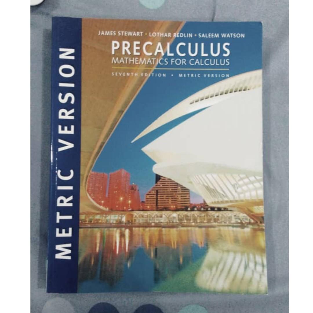 9 10 Precalculus Mathematics For Calculus 7th Edition Metric