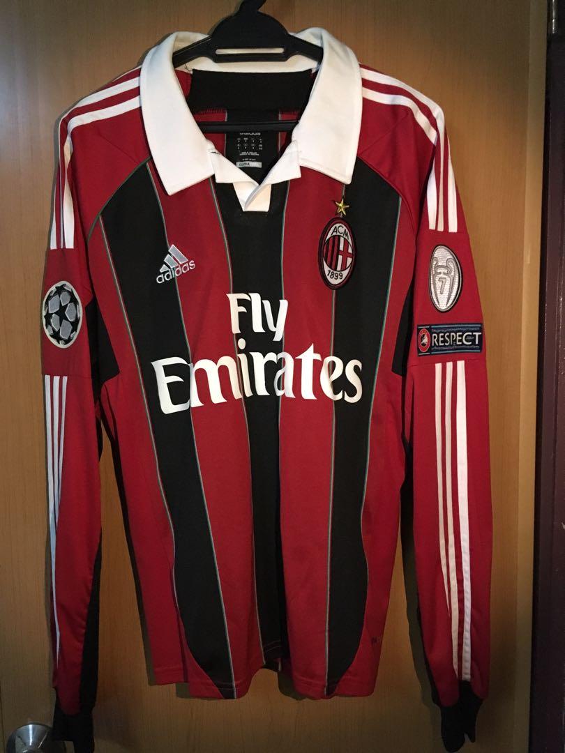 pretty nice d8dc6 d2807 AC Milan 2012/13 Home Kit Long Sleeve