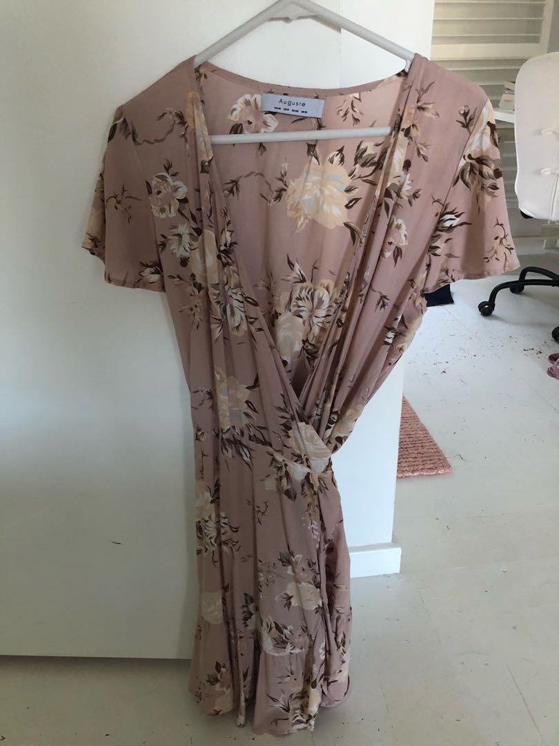 Auguste the label pink wrap dress
