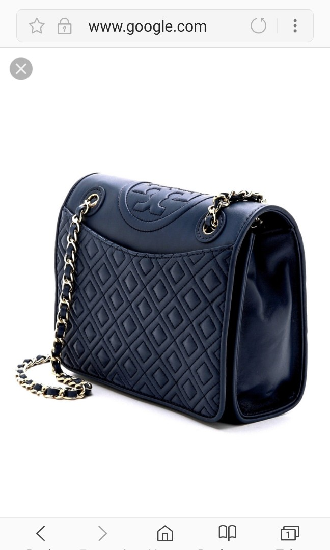 634b49d94766 Authentic Tory Burch Fleming Quilted Shoulder Bag- Classic Black ...
