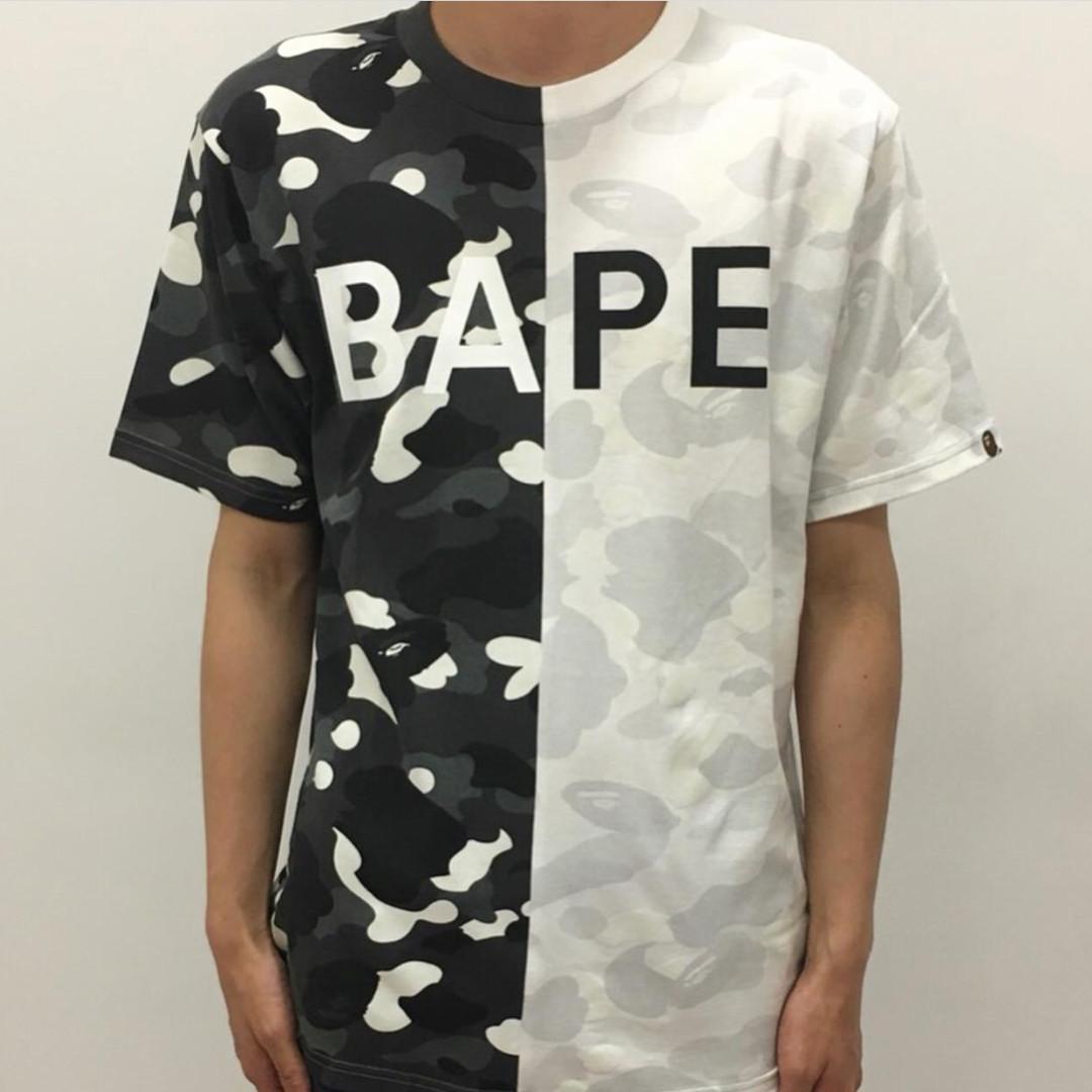 b9c8b4c3 BAPE City Camo Half Bape Tee, Men's Fashion, Clothes, Tops on Carousell