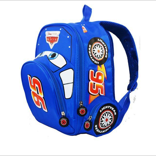 Boy Girl Disney Pixar Cars School Bag Blue d95148821cadd