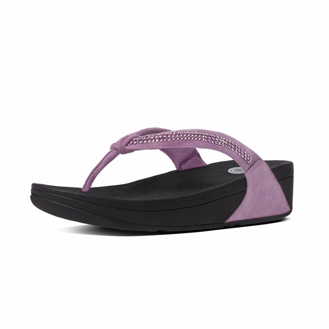 8ab7bfb0ef49 BRAND NEW FitFlop Crystal Swirl Flip Flops LILAC