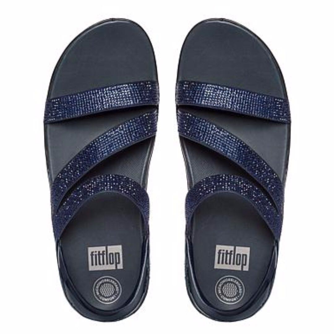 6b8064a30277 BRAND NEW FitFlop Crystall Z-Strap Sandal Supernavy