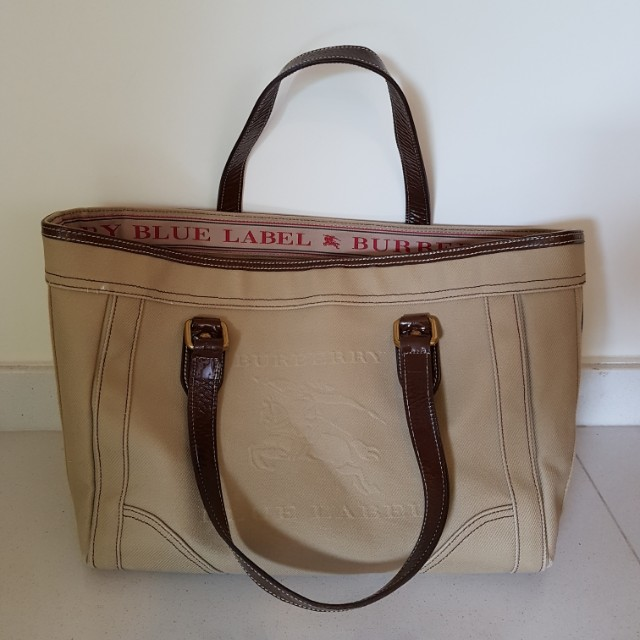 Burberry (Blue Label) Large Canvas Tote Bag 170c5beedf54d