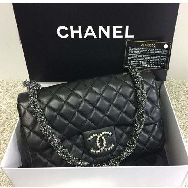 6334f14e9704 Chanel Westminster CC Pearls Flap Bag