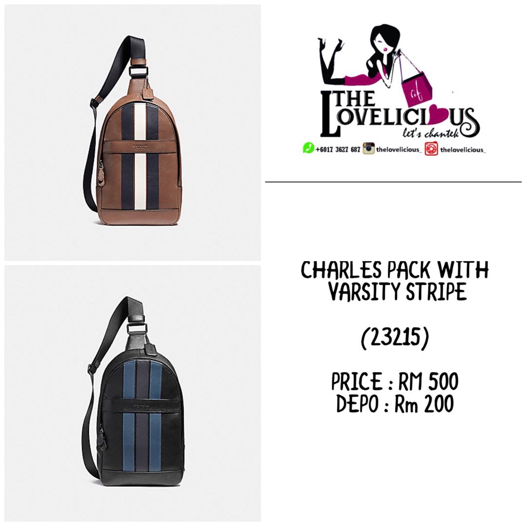 CHARLES PACK WITH VARSITY STRIPE COACH F23215 f60adde95dc02