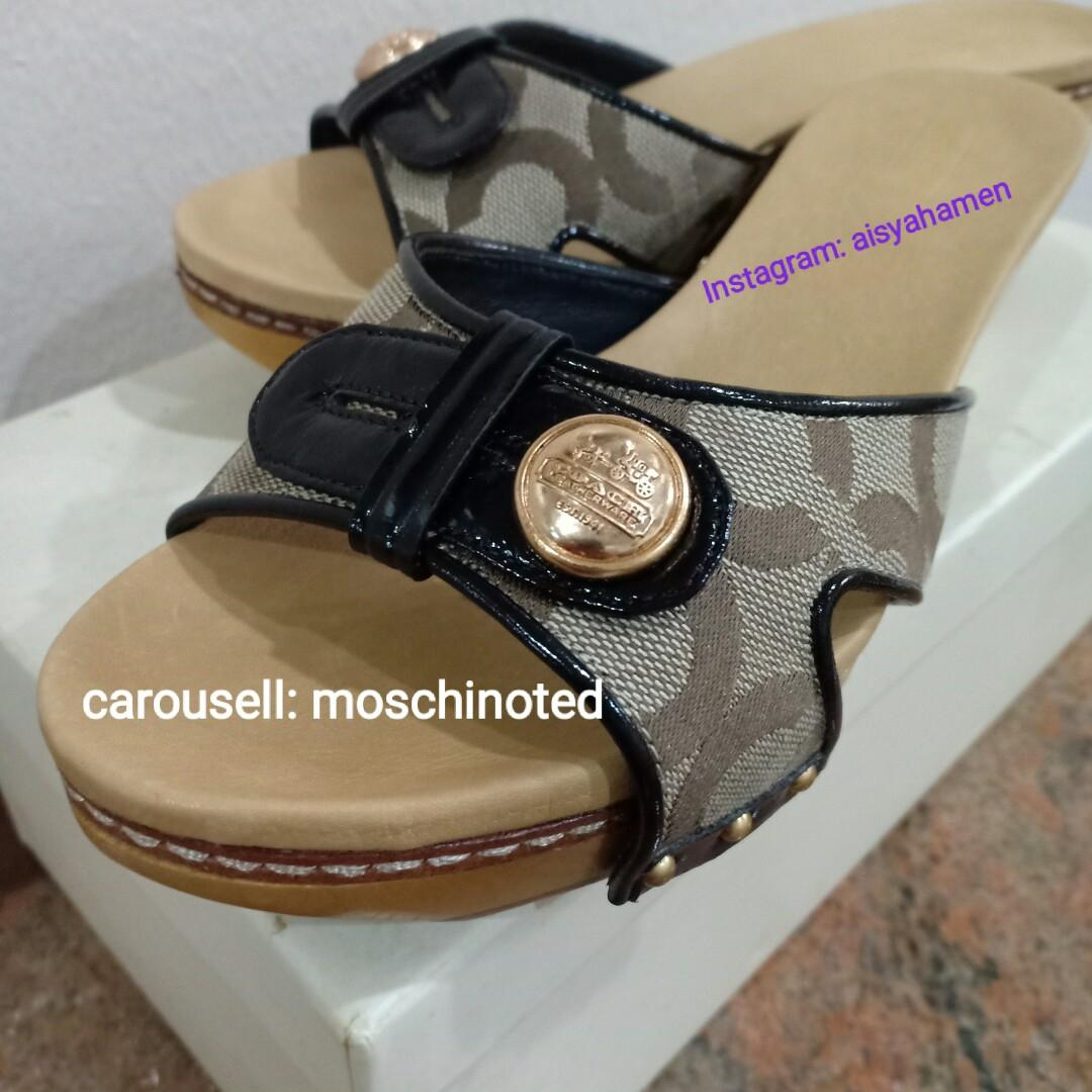 b7a390b1f656 Coach Slide Clog Sandals size US6 (code Q566)  julypayday