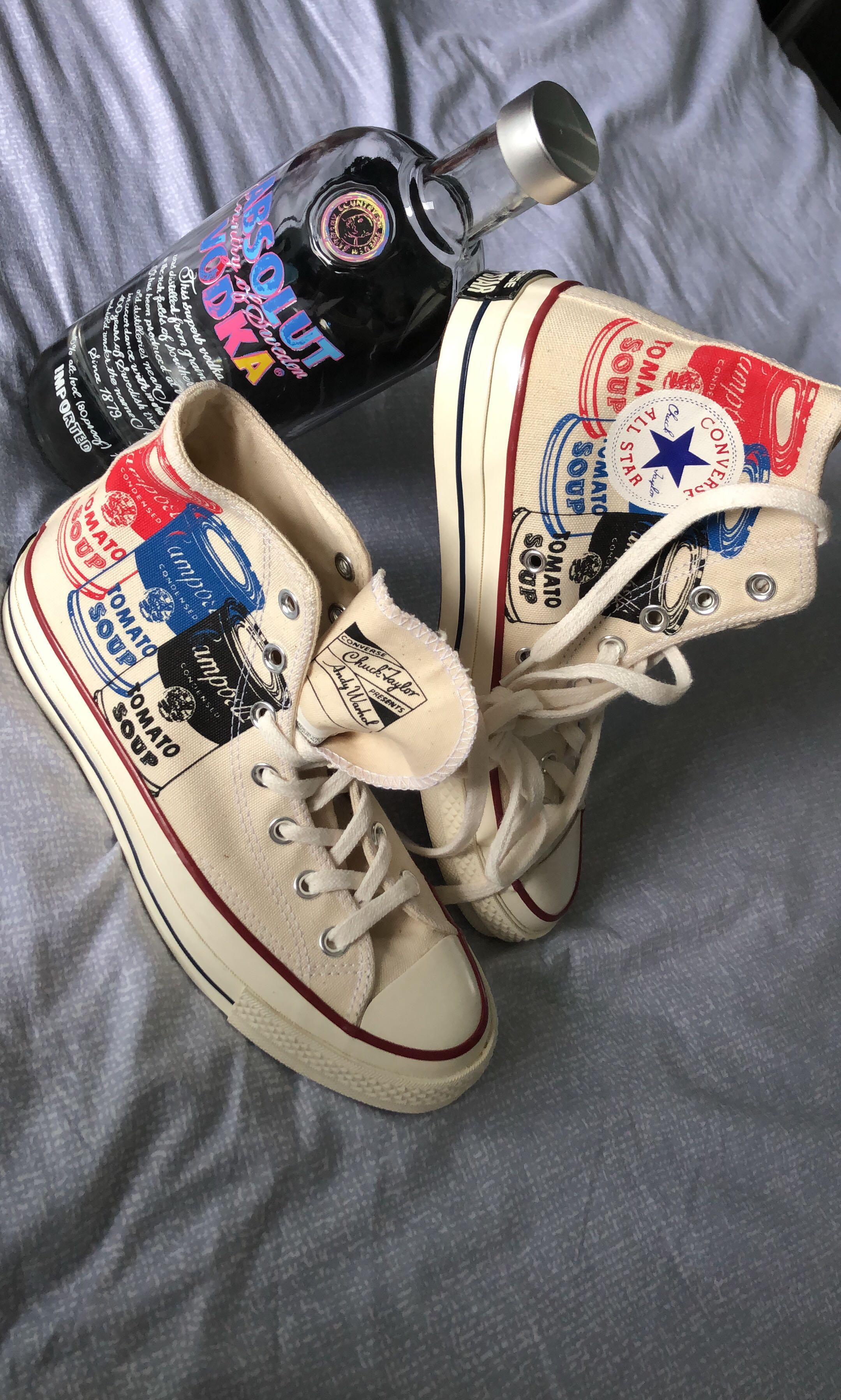 9aef37ce4fbccc Converse x Andy Warhol Collab Campbell Soup Chuck Taylors