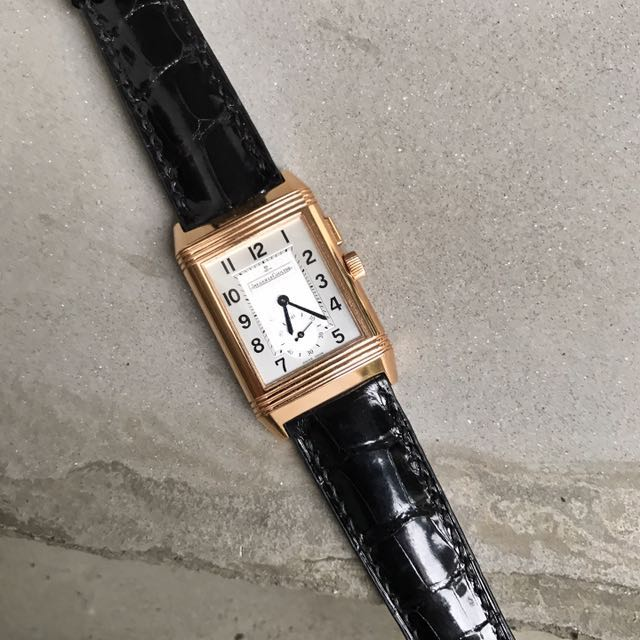 c83bb402a9 Custom Made This Glossy Alligator Strap For His Jlc Rose Gold ...