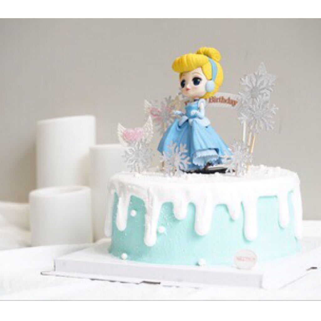 Awe Inspiring Disney Cinderella Princess Cake Topper Figurine Toy Fondant Funny Birthday Cards Online Overcheapnameinfo