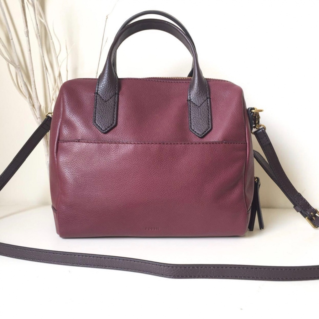 638be67bb8 fossil fiona satchel in cabernet
