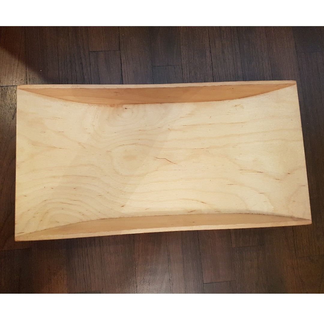 Ikea Wooden Serving Tray Plate Home Appliances Kitchenware On