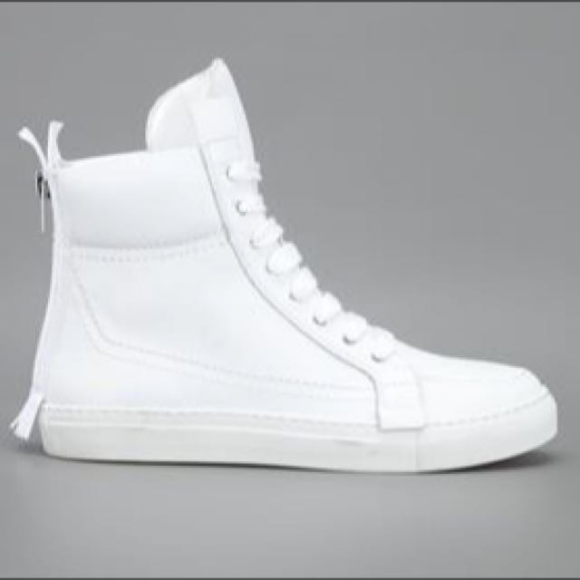 9963f43335 KRIS VAN ASSCHE Leather High Top Sneaker
