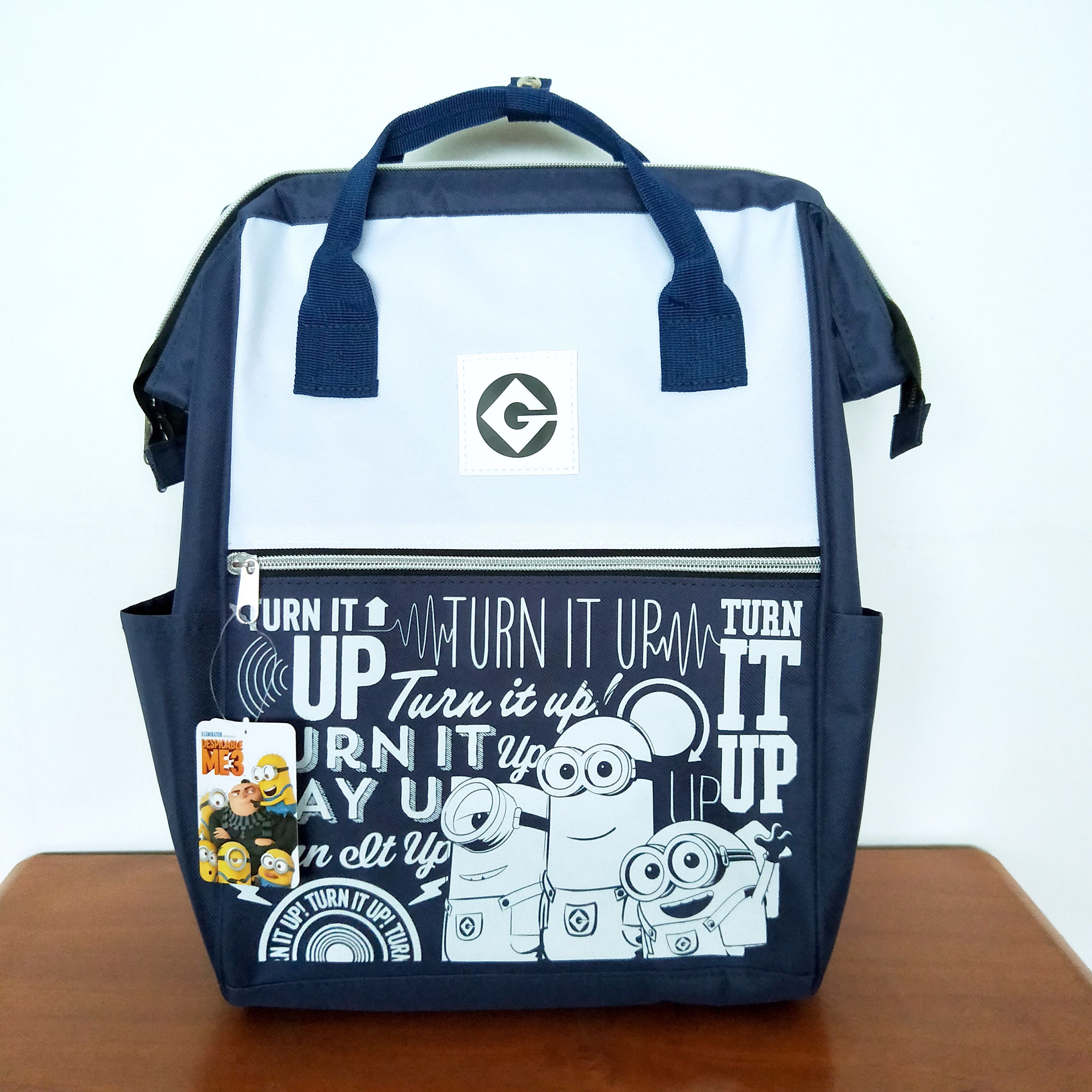 209dcf6a9e Minions Clasp Navy Blue Backpack, Babies & Kids, Strollers, Bags ...
