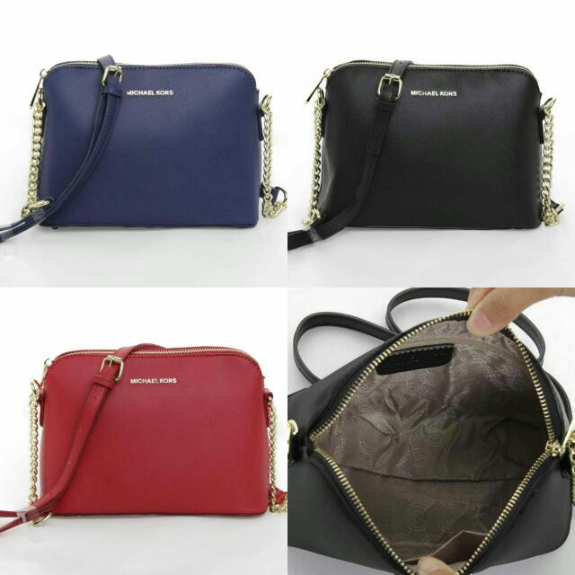 35c96fef44a3 Mk Cindy Dome Sling Bag, Luxury, Bags & Wallets on Carousell