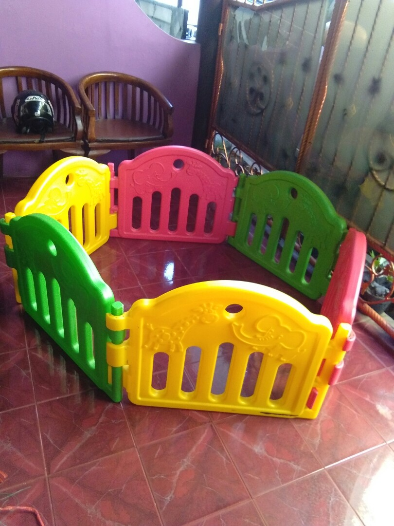 Pagar Bayi Playpen Fence Labeille Babies Kids Toys