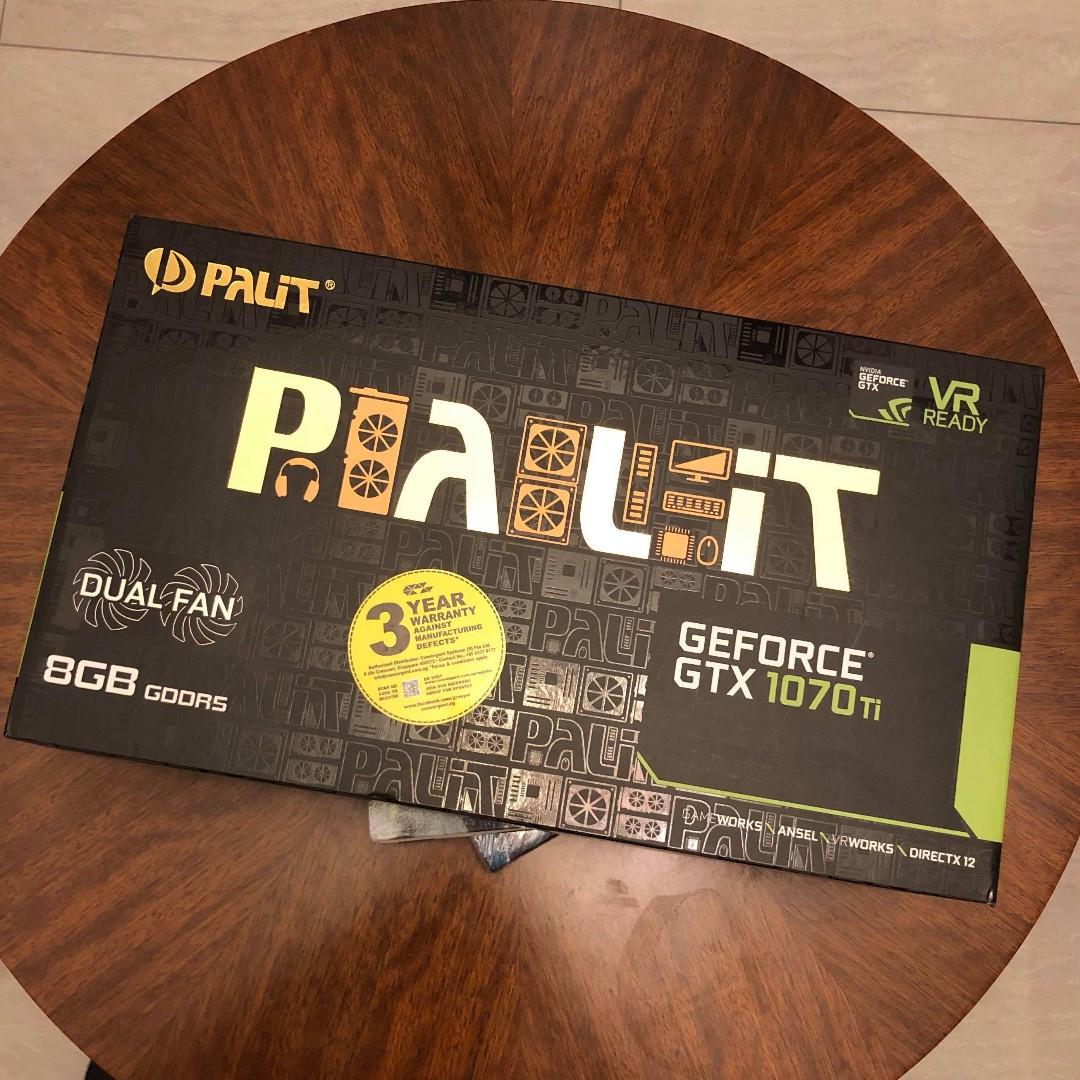 Palit GTX 1070 Ti Dual 8GB GeForce