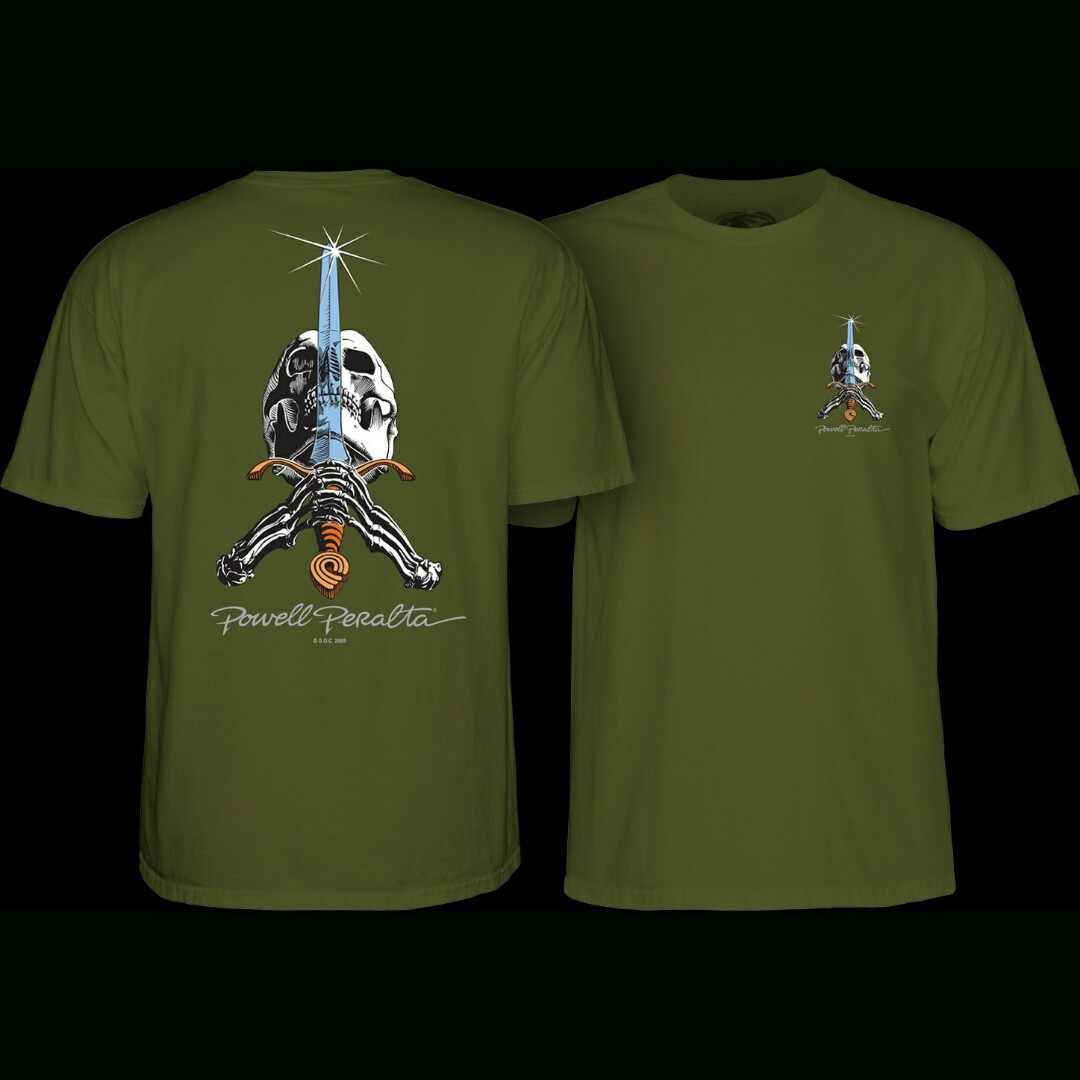 502bb3339 Powell Peralta Skateboard T Shirt skull and sword, Men's Fashion ...