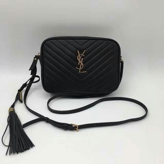 e9897987c7 SAINT LAURENT Monogram Lou Small leather cross body bag (BLACK ...