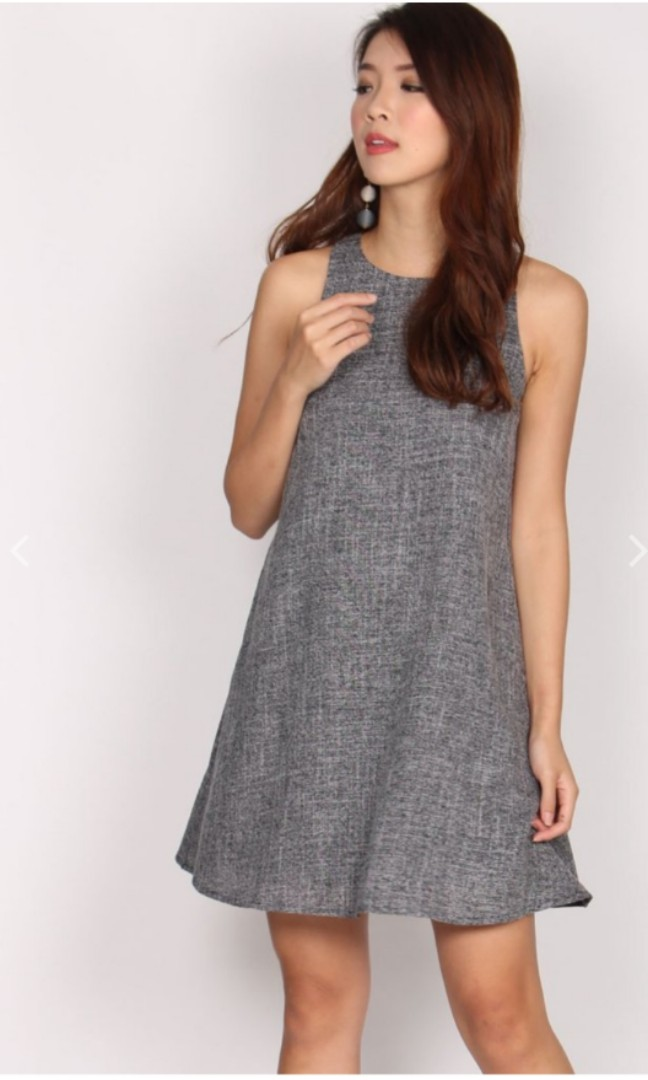 a8d07328a10 TDC THEDESIGNCLOSET HELRENE SUMMER TANK DRESS IN TWEED