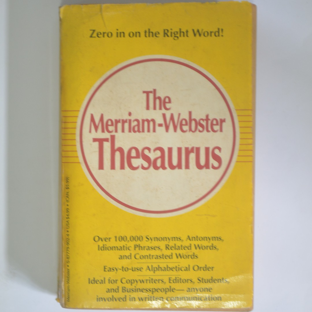 THESAURUS - Merriam Webster, Books & Stationery, Non-Fiction on Carousell