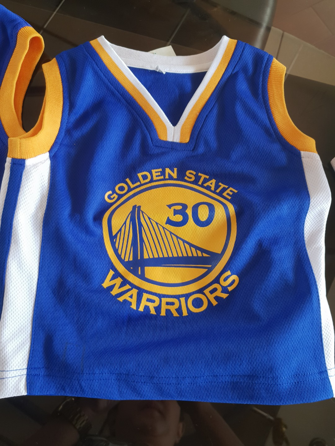 innovative design 83f01 44ad9 Warriors basketball jersey, Babies & Kids, Boys' Apparel on ...