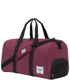 Herschel Novel 42L Duffle Bag Windsor Wine Grid
