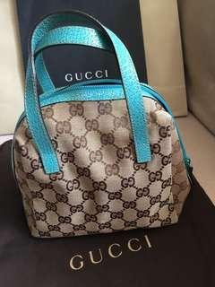 Gucci 手袋 handbag 手挽袋 blue monogram 100% Authentic 99% New not LV DIOR CHLOE MUI MUI BURBERRY Estée ikea baby