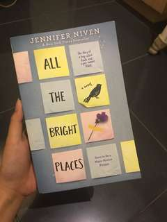 All the bright places Jennifer Niven Novel Buku Inggris