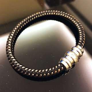 Montblanc Sterling Silver Bracelet 萬寶龍 男裝手鏈 手繩