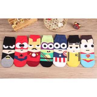 Iconic superhero socks