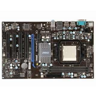 微星 NF725-C35 全固態電容主機板、AM3腳位、支援DDR3、PCI-E、拆機良品、附擋板
