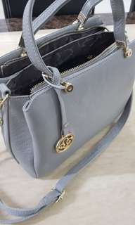 Corrocco Italy Italian Calf Leather Handbag in Grey