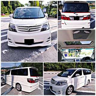 SAMBUNG BAYAR/CONTINUE LOAN  TOYOTA ALPHARD 2.4 V SPEC YEAR 2007/2010 MONTHLY RM 1670 BALANCE 4 YEARS ROADTAX OCT 2018 8 SEATER  DP KLIK wasap.my/60133524312/alphard