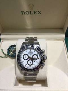 Rolex 116500LN新白地 全新香港行貨