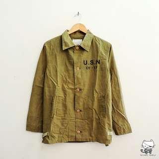 USN CV-17 Souvenir Shirt (Green) By White Vanilla