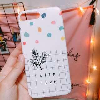 【包平郵】小清新 iPhone 7plus case 手機保護殻