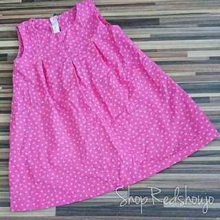 Custom Made Pink Polkadot Dress/ Long Top