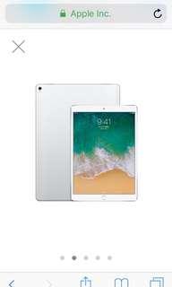 九成新 保固內 2手 iPad Pro 10.5吋 WiFi 銀色 今年1月購入 附保護貼+保護套