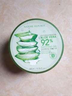 Nature Republic Soothing & Moisture Aloe Vera 92% Soothing Gel 300ml (RAMADHAN SALE)