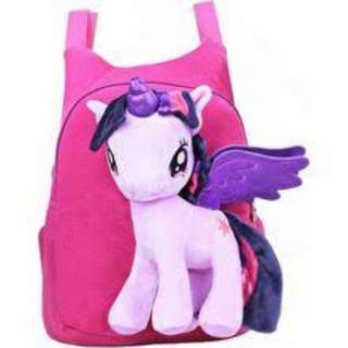 My Little Poney Cute Cartoon 3D Poney Purple Kid Bag Kindergarten Backpack School Shoulder Bag