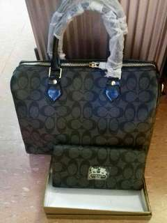 Coach Doctor's Bag with Serial Number bundle with Wallet