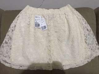 Forever 21 skirt cream xs